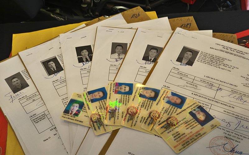 Hồ sơ đăng ký thi bằng lái xe A1