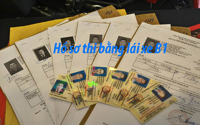 Hồ sơ thi bằng lái xe B1